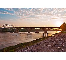 Sunset Over Broadway Bridge Photographic Print