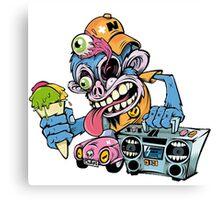 Monkey Art Design Monster Canvas Print