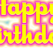 Happy Birthday Glowing Colors Sticker