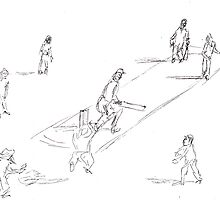 Twilight Cricket by David Fraser