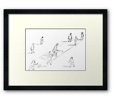 Twilight Cricket Framed Print