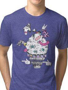 Monster Ice Cream  Tri-blend T-Shirt