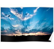 Sunset in Marche Poster