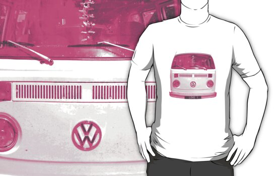Pink VW Campervan by Prettyinpinks