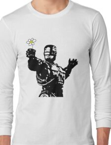 "Robocop ""likes flowers"" Long Sleeve T-Shirt"