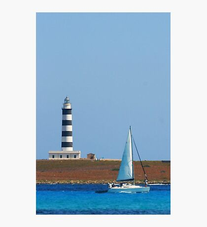 Lighthouse & Boat, Menorca Photographic Print
