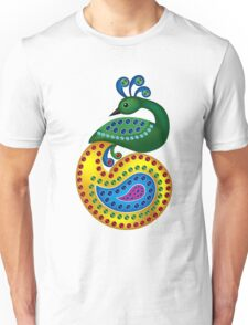 Beautiful and Colorful Peacock Unisex T-Shirt