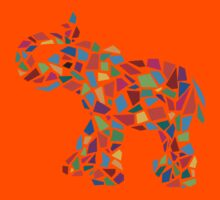Abstract Elephant Illustration Kids Clothes