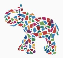 Abstract Elephant Illustration by Akhilesh