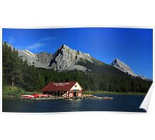 Maligne Lake Boathouse 2 Poster