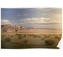The Mojave Desert at Sunset Poster