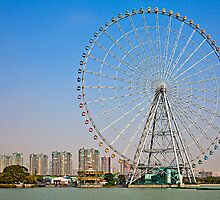 Waterside Ferris Wheel by Janette Anderson