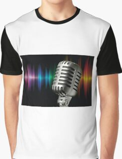 Retro Microphone Graphic T-Shirt