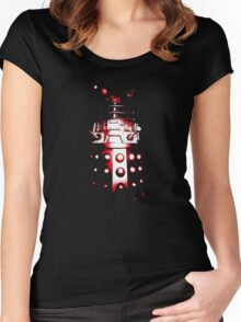 Dalek Alpha – Red Women's Fitted Scoop T-Shirt