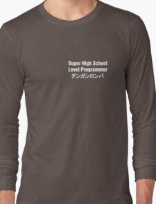 Danganronpa SHSL Programmer (White Text) Long Sleeve T-Shirt