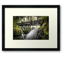 Alfred Reagan's Tub Mill Overflow Framed Print