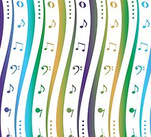 Seamless background with music notes pattern by Ingvar Bjork Photography