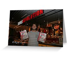 Omar AlliBhoy promotes his new book Tapas Revolution Greeting Card