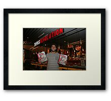 Omar Allibhoy promotes his new book Tapas Revolution Framed Print