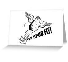 Fly, Spud, Fly! Greeting Card