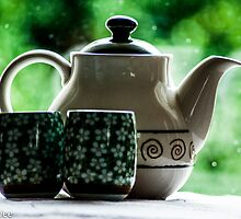 Sip a cup of green tea with me...Got Featured Work:) by Kornrawiee