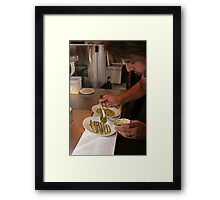 Omar Allibhoy prepares anchiovies at his restaurant Tapas Revolution Framed Print