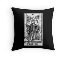 Justice Tarot Card - Major Arcana - fortune telling - occult Throw Pillow