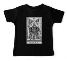 Justice Tarot Card - Major Arcana - Fortune Telling - Occult Baby Tee