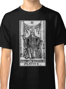 Justice Tarot Card - Major Arcana - Fortune Telling - Occult Classic T-Shirt