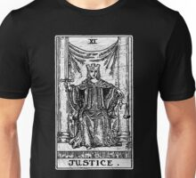 Justice Tarot Card - Major Arcana - Fortune Telling - Occult Unisex T-Shirt