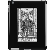 Justice Tarot Card - Major Arcana - Fortune Telling - Occult iPad Case/Skin