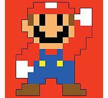 Super Mario Maker - Modern Mario Costume Sprite Photographic Print