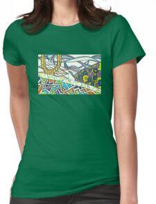 Vibrant Garden  Womens Fitted T-Shirt