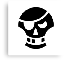 Pirate Skull Ideology Canvas Print