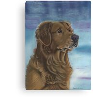 Goldie in the Snow Canvas Print