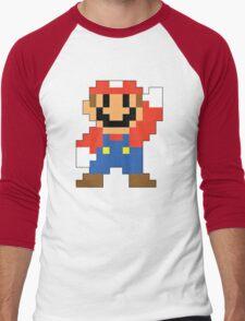 Super Mario Maker - Modern Mario Costume Sprite Men's Baseball ¾ T-Shirt