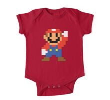 Super Mario Maker - Modern Mario Costume Sprite One Piece - Short Sleeve