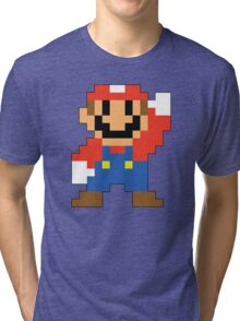 Super Mario Maker - Modern Mario Costume Sprite Tri-blend T-Shirt