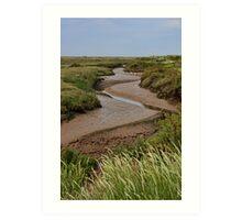 Blakeney mudflats and saltmarsh Art Print