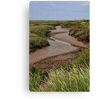 Blakeney mudflats and saltmarsh Canvas Print
