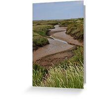 Blakeney mudflats and saltmarsh Greeting Card