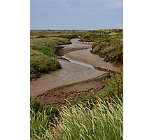 Blakeney mudflats and saltmarsh Photographic Print