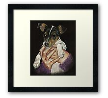 Puppy power! Framed Print