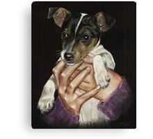 Puppy power! Canvas Print