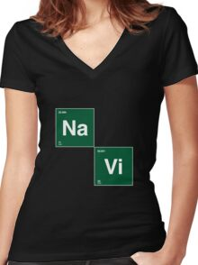Na`Vi and Breaking Bad Women's Fitted V-Neck T-Shirt