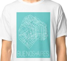 Buenos Aires Map - Teal Classic T-Shirt