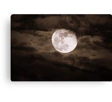 """""""Super-Moon"""" Canvas Print"""