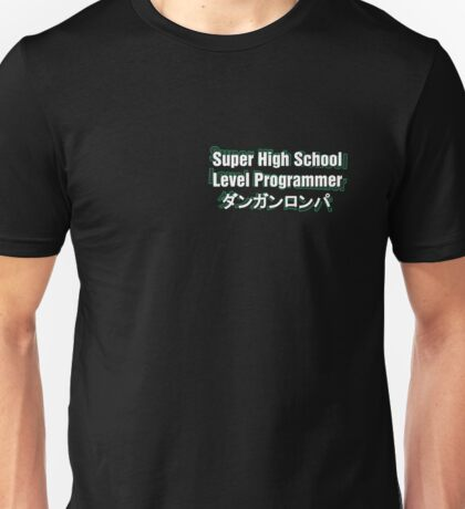 Danganronpa SHSL Programmer (with text behind) Unisex T-Shirt