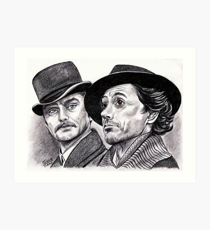 Robert Downey Jr and Jude Law, Sherlock and Watson Art Print
