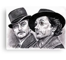 Robert Downey Jr and Jude Law, Sherlock and Watson Canvas Print